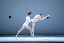 "Kevin Jackson and Lana Jones of the Australian Ballet in Wayne McGregor's ""Dyad 1929."" Photograph by Lisa Tomasetti"