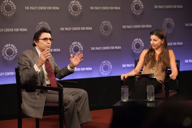 Edward Villella answers questions from his daughter, Crista, at the Paley Center for Media. Photograph by Melissa Stewart Photography.