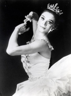 "Melissa Hayden in ""Cortège Hongrois,"" which Balanchine choreographed as a pièce d'occasion for her retirement."