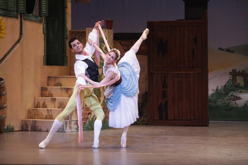 """Ricardo Graziano and Kate Honea in """"La Fille Mal Gardée."""" Photograph courtesy of Sarasota Ballet"""